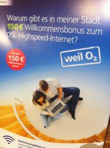 Werbung des Mobilfunkanbieters O2