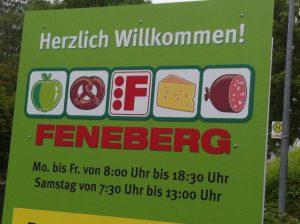 """Falsche Schreibweise von """"Herzlich willkommen"""", gefunden bei Feneberg in Blaichach.ch."""